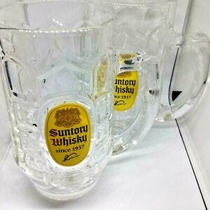 Suntory Whisky Original Kaku Highball Mug 2 pieces Beer Mugs Soda Glass Official