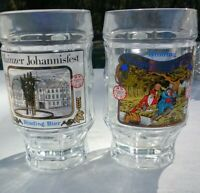 2 Binding Bier Vintage German Beer Glass Mug Germany 0.4l SQHM Seit 1870