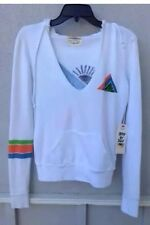 $115 NWT Day By Day Brand Solid White Surf Sweatshirt Made In USA Size M