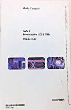 Tektronix P6243 Sonde Active 10X 1GHz Mode d'emploi 070-9410-01 FRENCH