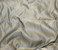 """Raw Silk Fabric - Taupe Gray with Gold Stripes 54"""" by the yard"""