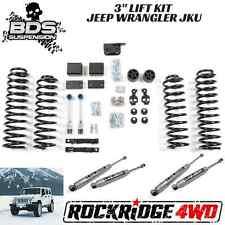 "BDS Suspension Jeep Wrangler JK 07-11 3"" Lift Kit 4 Door 4WD JKU USA DISCO LINKS"