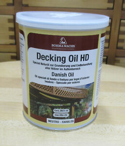 Decking Oil Danish Oil von Borma farblos - 1 Liter dänisches öl