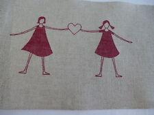 Leinenband 11 fädig Vaupel & Heilenbeck 160mm breit Motiv Mädchen rot 5068-160