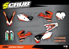 KTM graphics SX SXf 125 250 450 525 2003-2004 decals sticker MX '03-'04 SCRUB