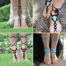 Jewelry Anklet Bracelet Ankle Chain Kv Chic Barefoot Sandals Crochet Cotton Foot