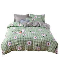 Chic Daisy Flower Gingham Bedding Doona Duvet Quilt Cover Set Holiday Xmas Gift