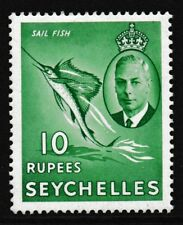 Pre Decimal,Africa,Seychelles,10 Repees Green,SG188,MH,CV£28,#1856