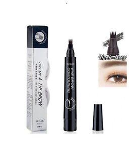 Black-Grey Eyebrow Tattoo Pen Waterproof Fork Tip Micro blading Makeup Ink