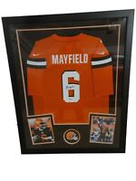 BAKER MAYFIELD - FRAMED CLEVELAND BROWNS AUTOGRAPHED SIGNED JERSEY BECKETT COA