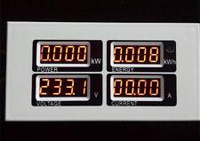 100A AC Digital LED Power Meter Monitor Voltage KWh Clock Time Watt Volt Ammeter
