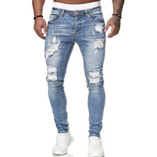Jeans Hosen Herren Slim Fit Destroyed Jeanshose Männer Hose Stretch Basic Denim