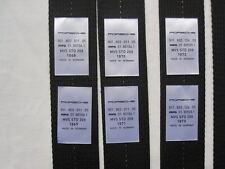 PORSCHE 911 classic. T,E,S, RS  Repa Seatbelt labels  1968- 1973.