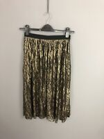 COAST Skirt - Size UK10 - Gold - New With Tags - Women's