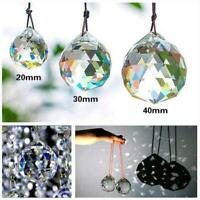 40mm Clear Feng Shui Hanging Crystal Ball Lamp Sphere Catcher Sun Rainbow N Y6T2
