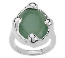 RLM Studio Sterling Oval Gemstone Free-Form Design Ring AVENTURINE SIZE 7