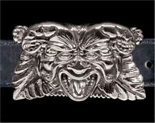 Gargoyle Belt Buckle - Sterling Silver