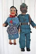 2 Böhmische Marionetten /Großmutter und Jäger/ ca. 1930