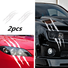 2x Scratch Decal Monster claw marks Car Vinyl Decal Eye Catching Sticker Silver