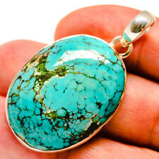 """Tibetan Turquoise 925 Sterling Silver Pendant 1 3/4"""" Ana Co Jewelry P736566"""
