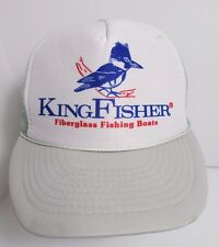 KingFisher Fishing Boats Hat Cap  Trucker Snapback Vintage Preowned