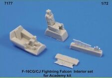 CMK 1/72 F-16CG/CJ Fighting Falcon interior Set para Academia # 7177