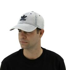NWT Adidas Originals Men Relaxed Denim Cap Logo Dad Hat Washed Blue B10079