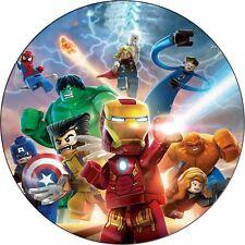 Eßbar Tortenaufleger Lego Ironman Hulk Muffin DVD NEU Avenger Dekoration Figur