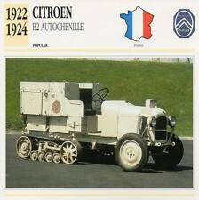 1922-1924 CITROEN B2 Autochenille Classic Car Photograph/Information Maxi Card