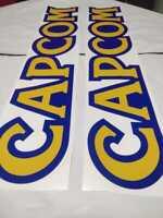 CAPCOM MINI CUTE Arcade Candy Cabinet Side Art decals(stickers) SET left & right