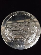 2012 Chaco Culture 5 oz Silver Coin ATB Milk Spots Hazing Less than Perfect