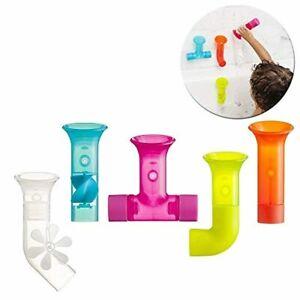 Multicolour Pipes Building Bath Toy - PIPES (5 piece) TUBES (3 piece)