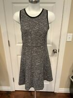 J. Crew Black & White Wool Tweed Shift Dress, Size 4