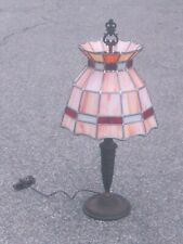 New listing gorgeous 1920s Signed Table Lamp w/Stained Glass shade!