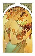"""Alphonse Mucha 1976 Authentic Vintage Art Nouveau Print """"le FRUTTA PIASTRA"""" Libro"""