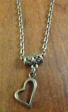 collier chaine bronze 51 cm avec pendentif coeur 18x17 mm