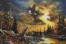 "Jim Hansel ""Watchful Eyes"" Eagle Print  16"" x 12"""