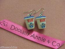 Handmade Blue Raspberry Slush Puppie earrings-unique gift