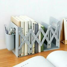 Retractable Bookend Book Stand Multifunction-Book Folder Holder Pen G3O8