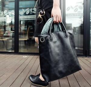 Mens Large Fashion Leather Shopping Totes Messenger Laptop Big School Bag HAP@
