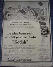 Publicité de presse Appareil Photo KODAK Le plus beau récit French Ad 1926