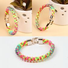 New Silver Multi Colour Bracelet Bangle Crystal Jewellery Ethnic Gift Bag