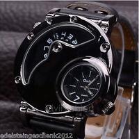 GS 1 Herren Armbanduhr Quartz Analog Digital Sportuhr Mond Sonne OULM Geschenk