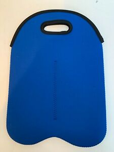 NEW Blue insulated Neoprene Double 2 bottle Wine Bag Carrier tote Cooler Carrier