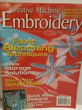 Creative Machine Embroidery Book of Quilt Fabric Bleaching Ancient Applique 2005