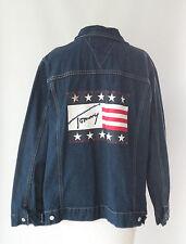 TOMMY HILFIGER Women's Blue Jean Flag DEMIM JACKET PLUS Sz 2X more like 24W  3X
