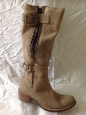 MANAS Design Brown Knee High Suede Boots Size 37