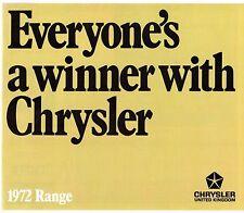 Chrysler Hillman Sunbeam Humber 1971-72 UK Market Foldout Sales Brochure