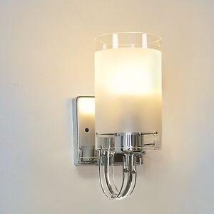 Glass Wall Light Indoor Sconce Lighting Bedside/Aisle Lamp Fixture + LED Bulb US