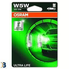 OSRAM W5W Ultra Life (501) Exterior Interior Bombillas 12V 2825ULT-02B DuoBox